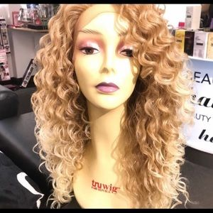 Accessories - Long blonde curly wig 27/613 Lacefront Miami girl
